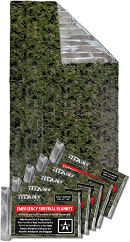 Titan Two-Sided Emergency Mylar Survival Blankets