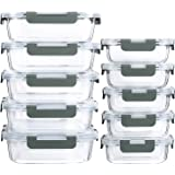 [10-Pack]Glass Meal Prep Containers with Lids-MCIRCO Glass Food Storage Containers with Lifetime Lasting Snap Locking…