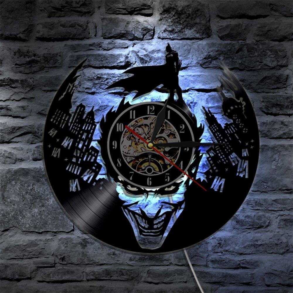 Batman LED Reloj de Pared Control Remoto Silencio Creativo ...