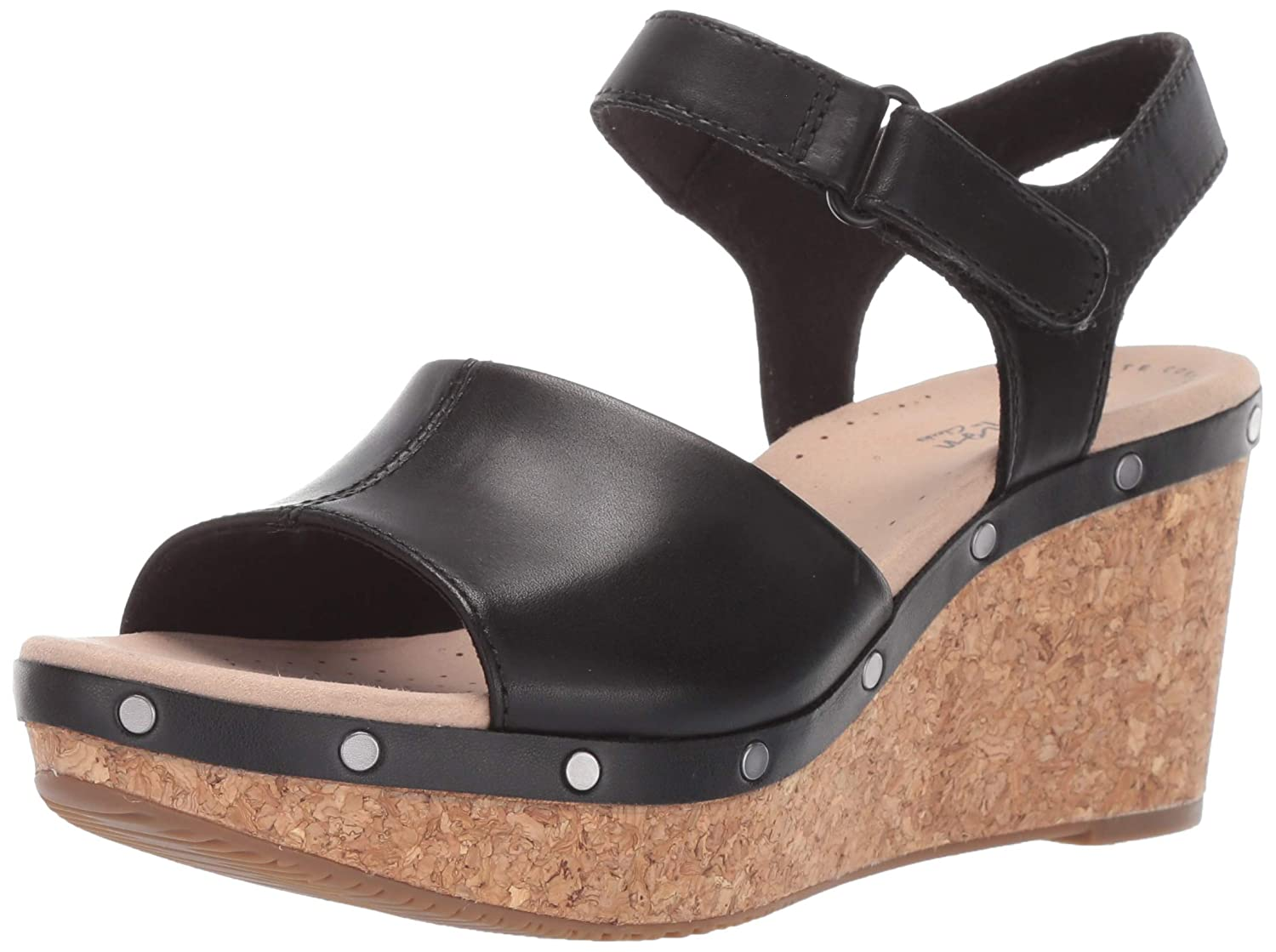 5013c1e58 Amazon.com | CLARKS Women's Annadel Clover Wedge Sandal | Shoes