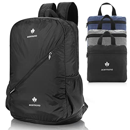 dcce5a582df6 Amazon.com   acermono Lightweight Packable Backpack Travel Hiking ...