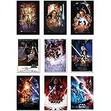 POSTER STOP ONLINE Star Wars Episode I, II, III, IV, V, VI, VII, VIII & IX - Movie Poster Set (9 Individual Full Size Movie P