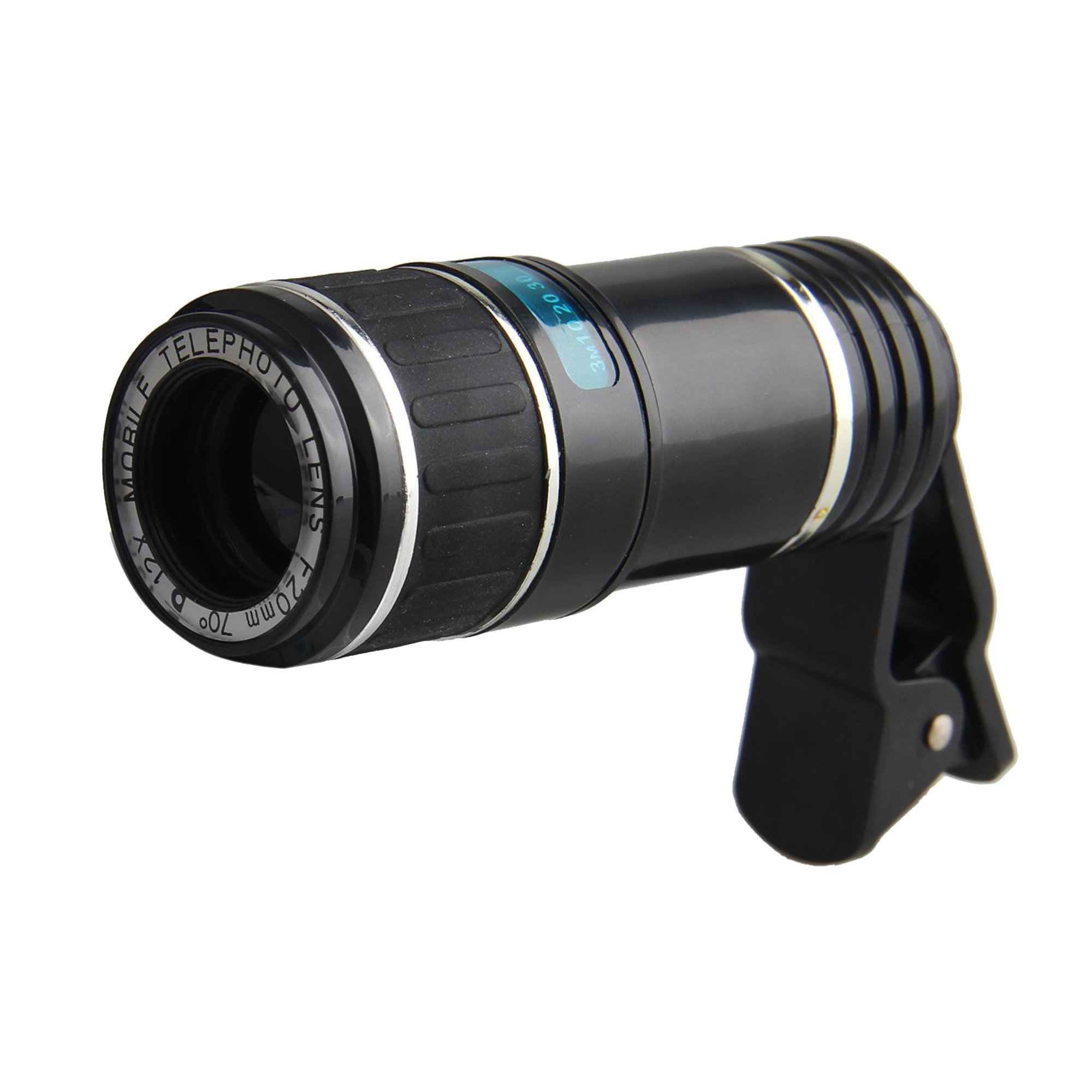 Ultra High Definition 12X Clip-on Telephoto Camera Lens Manual Focus Zoom Lens for iPhone, Android/Windows Smartphones