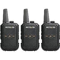 Retevis RT15 Walkie Talkie Recargable, Mini, Portátil Radios de Comunicacion, VOX, USB, Walkie Talkie para Adultos…