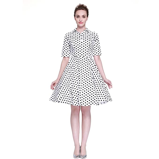 5fdf075263f Heroecol Vintage 1950s 50s Dress Style Retro Rockabiily Cocktail Dots XS WBD