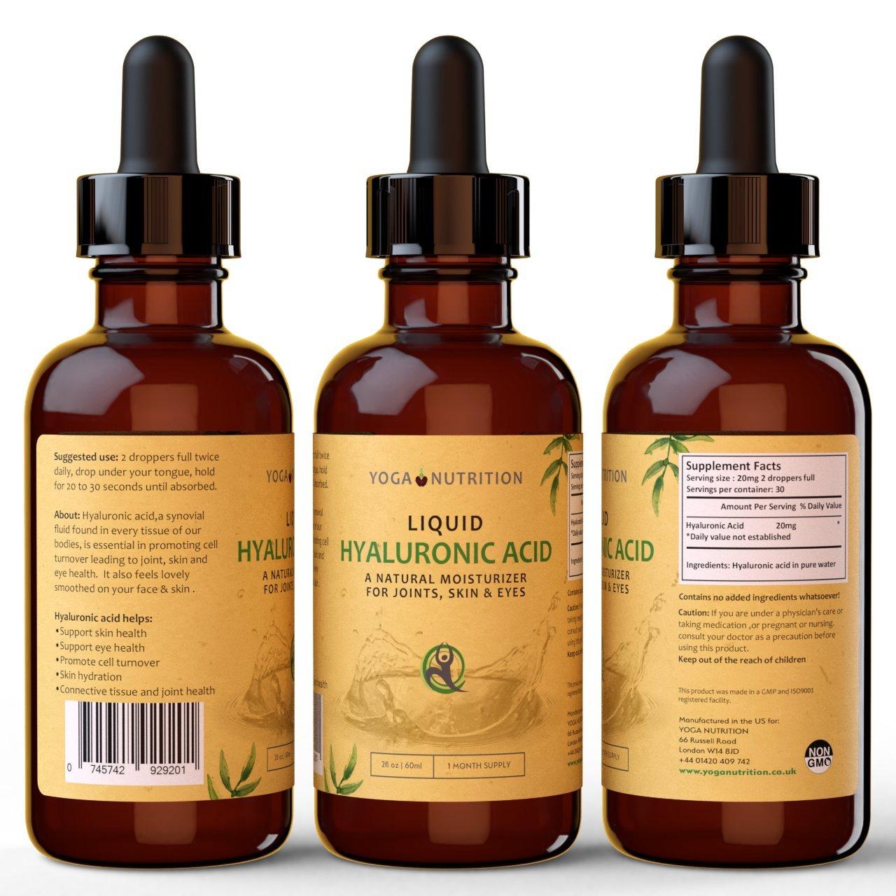Yoga Nutrition Ácido hialurónico líquido, Sublingual - Sabor ...