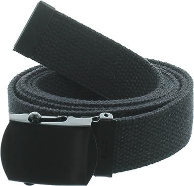 "1.25/"" Wide Military Web Belts Black Belt Buckle 100/% Cotton Web Belts"