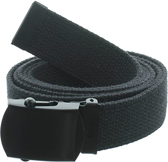 100% Cotton Military 54 quot  Web Belt (Black w Black ... 5957cfc76c7
