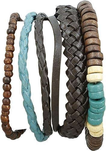 bracelet cuir homme indien