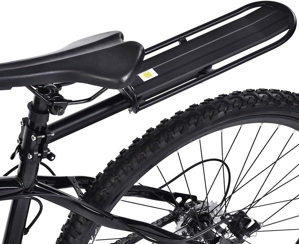Portaequipajes Trasero de Aleaci/ón de Aluminio para Bicicletas Capacidad de Carga de 25 kg Zerone Portaequipajes para Bicicletas Ajustable