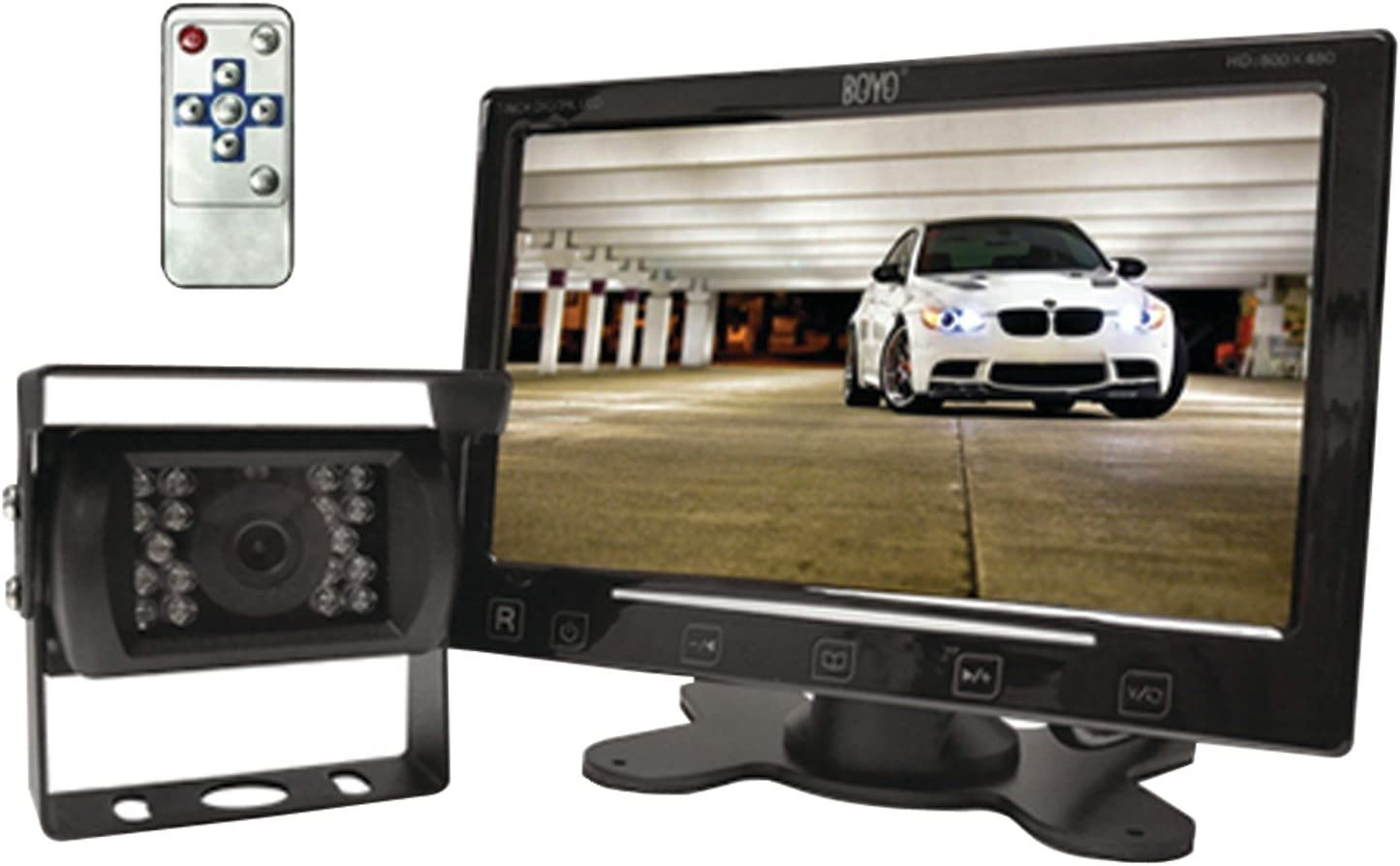 "Truck Installation Friendly Design Vehicle Backup Camera System with 5/"" Monitor and Backup Camera for Car SUV and Van BOYO VTC500DIY"