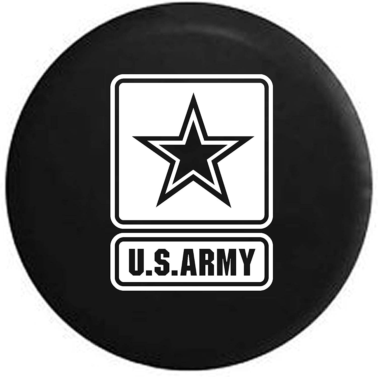 Pike Camo US Army Star Military Trailer RV Spare Tire Cover OEM Vinyl Black 30 in
