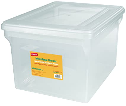 Amazoncom Staples LetterLegal File Box Clear Home Kitchen