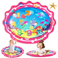"""SEETOYS Tummy Time Baby Mermaid Water Mat, Infant Toy Largest 30"""" by 24.4"""", Inflatable Baby Play Activity Center for Boy…"""