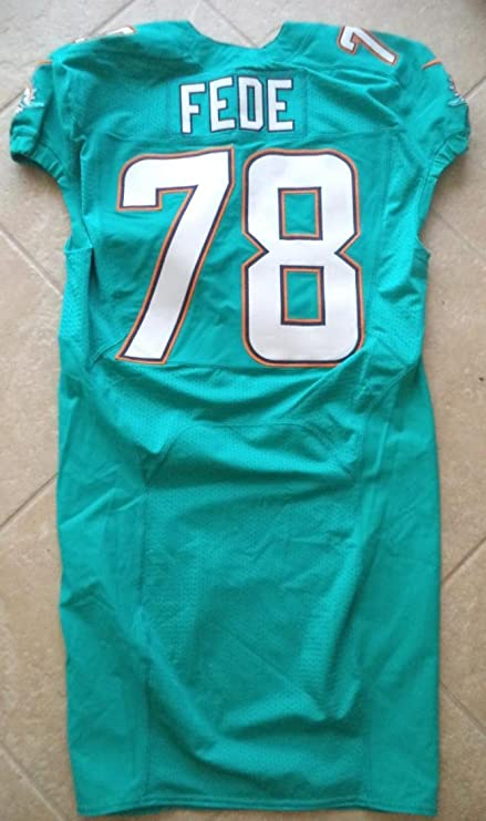 cheaper 7f736 17942 Terrence Fede Miami Dolphins #78 2014 On Field Jersey Aqua ...