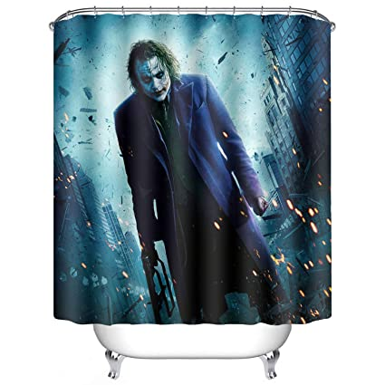 Amazon Heath Led Ger Shower Curtain Waterproof Mildew 3D