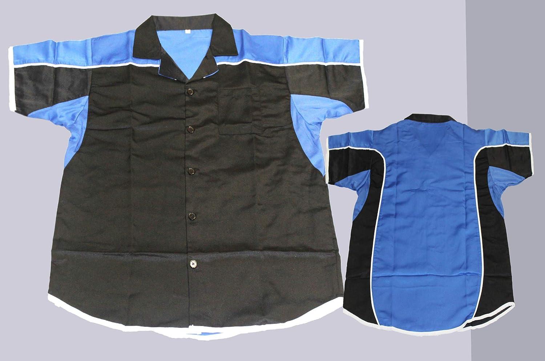 Lisaro - Camisa para Dardos o Bolos, Color Negro y Azul ...