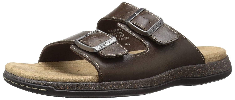 G.H. Bass & Co. Men's Hargrove Flat Sandal, Dark Brown, 9 M US