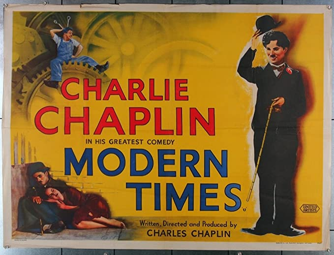 Modern Times (1936) Original British Quad Movie Poster 30x40 Re-release of  the 1950s Fine Plus Condition CHARLIE CHAPLIN at Amazon's Entertainment  Collectibles Store