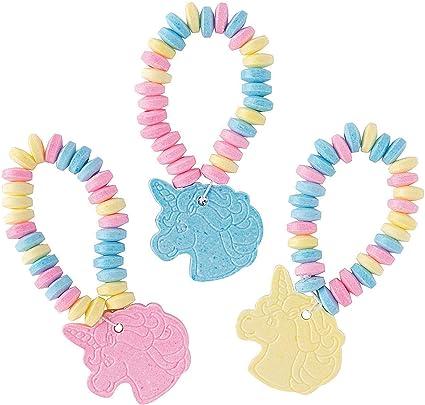 Amazon.com: Unicorn Party Favor Candy Pulseras 12 piezas ...