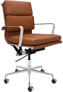 soho eames style soft pad management chair brown