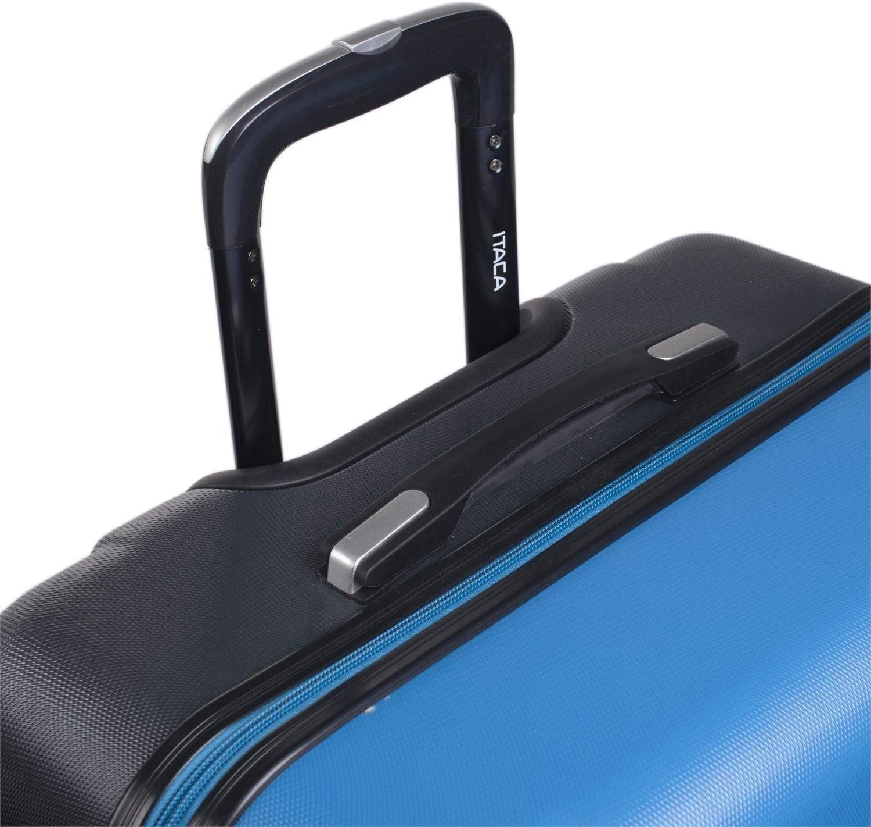 Juego de Maletas 4 Ruedas Trolley ABS con Candado Integrado 71117 Resistentes R/ígidas C/ómodas y Ligeras Bonito Dise/ño 2 Tama/ños: Peque/ña 55 y Grande 75 Color Fucsia-Antracit ITACA