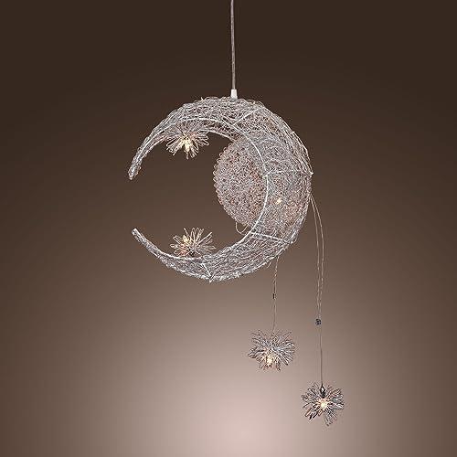 Aluminum Moon Star Kid s Bedroom Ceiling Pendant Lamp Children s Study Room Chandelier Light BabyRoom Ceiling Lighting Fixures
