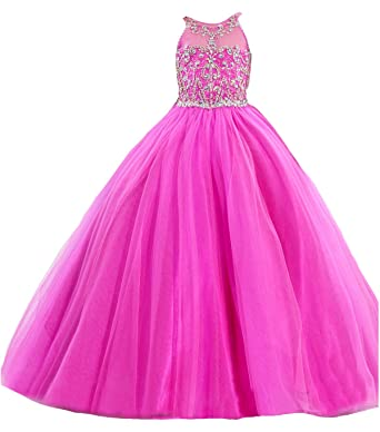 Wealth Girls Beading Wedding Party Ball Gowns Kids Pageant Dress ...