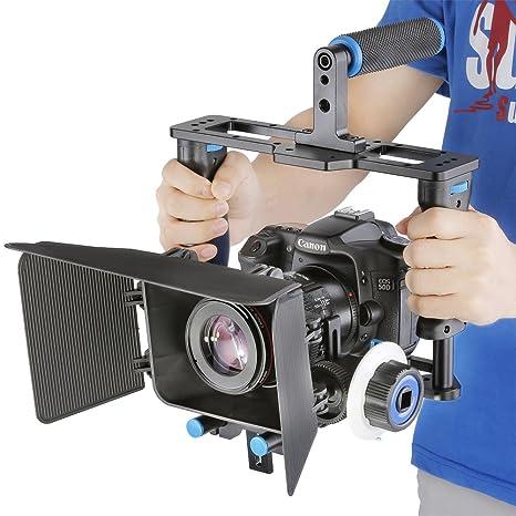 Neewer® Aleación de aluminio cámara jaula de vídeo película Kit ...