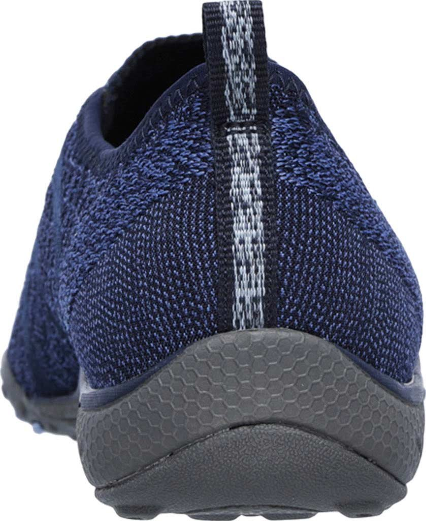Skechers Women's Relaxed Fit Breathe Easy Fortune-Knit Slip-On,Navy,US 5 W by Skechers (Image #4)