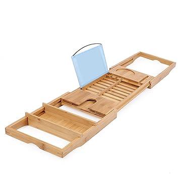 Vokul bambú bañera Caddy - Bandeja extensible de 27 f66588df1376