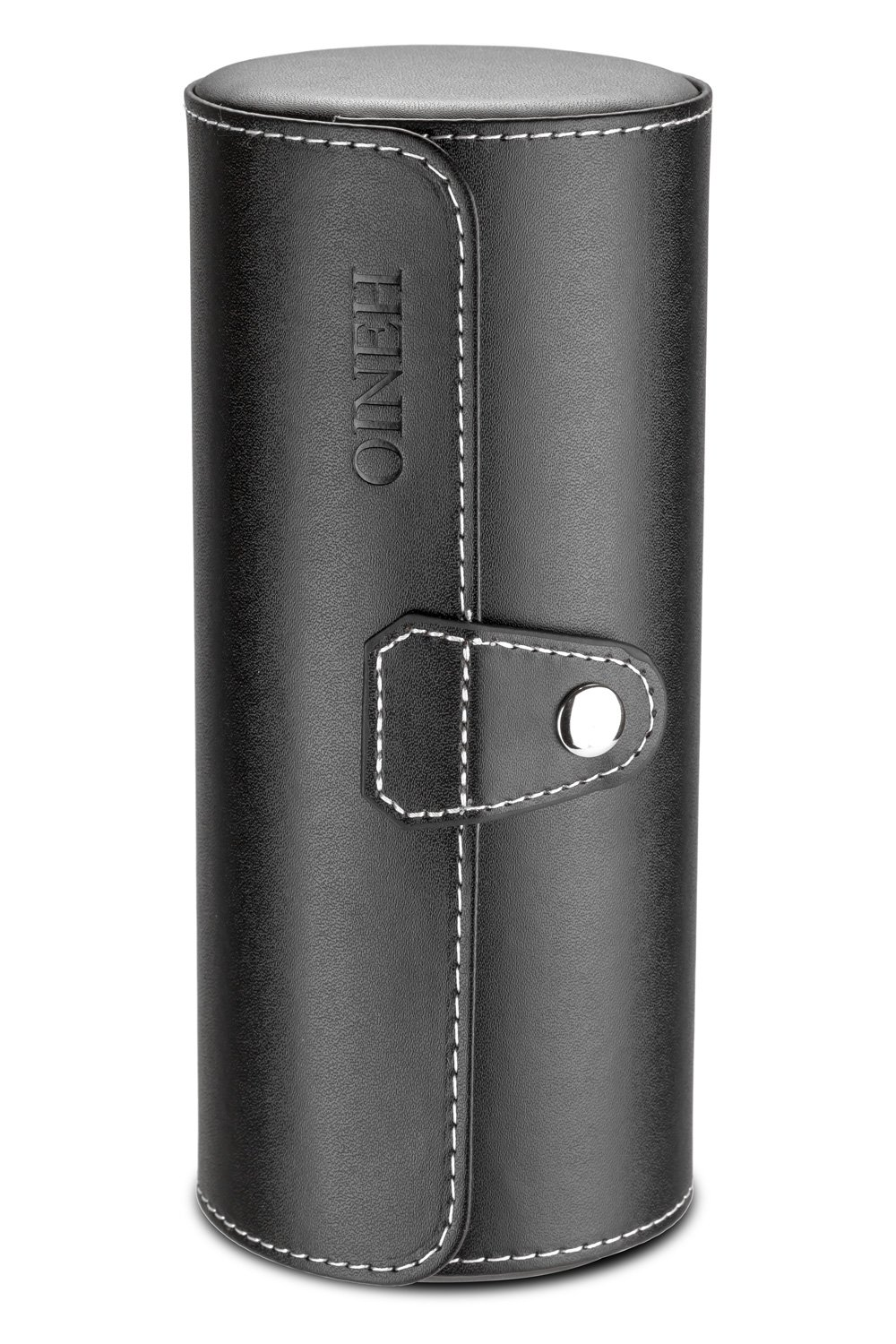 Leatherette Roll Traveler's Watch Storage Organizer for 3 Watch and/or Bracelets (Black) by Oineh (Image #3)