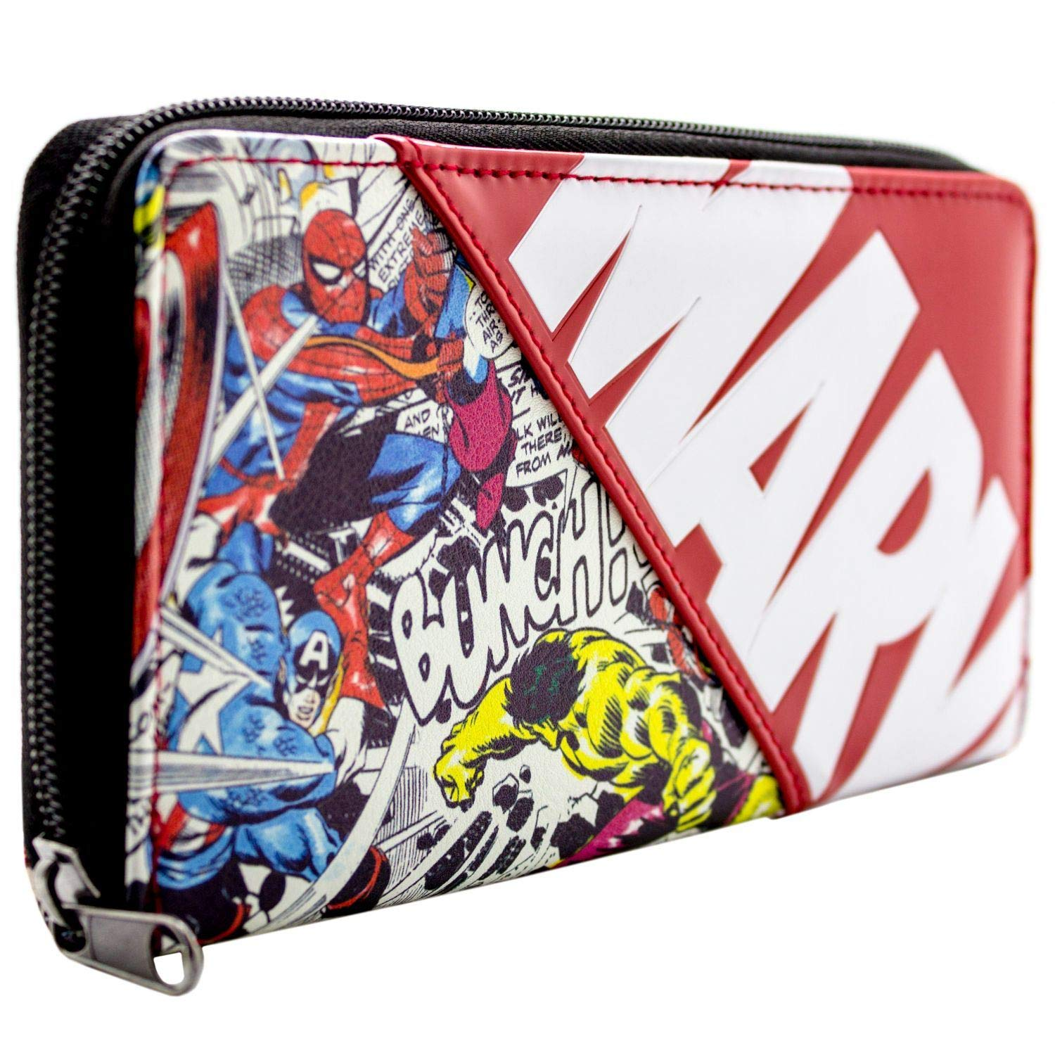 Marvel Avengers Characters Comic Style Red Coin & Card Clutch Purse
