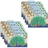 "Punch Studio Decorative Royal Peacock Letter Size File Folders, Blue/Multicolor, 10 Count, 9.5""x 11.75"""