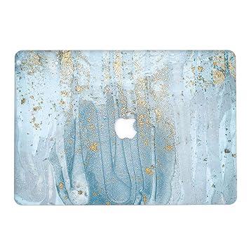 L2W Funda Dura para Apple MacBook Air 13,3 Pulgadas (Old) Modelo A1466/A1369 Portátiles Accesorios Plástico Mármol Diseño Imprimir Protección Rígida ...