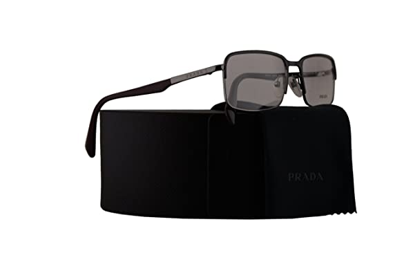 a11805c0d85 Prada PR61QV Eyeglasses 56-18-140 Black Gunmetal w Demo Clear Lens OAV1O1  VPR61Q VPR 61Q PR 61QV  Amazon.co.uk  Clothing