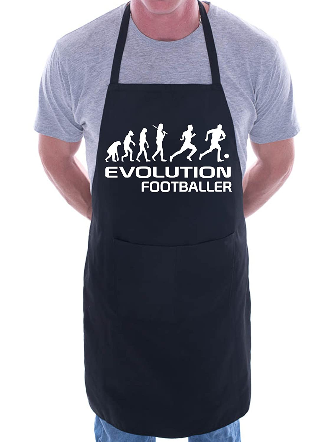 Evolution Of Footballer Football BBQ Cooking Funny Novelty Apron