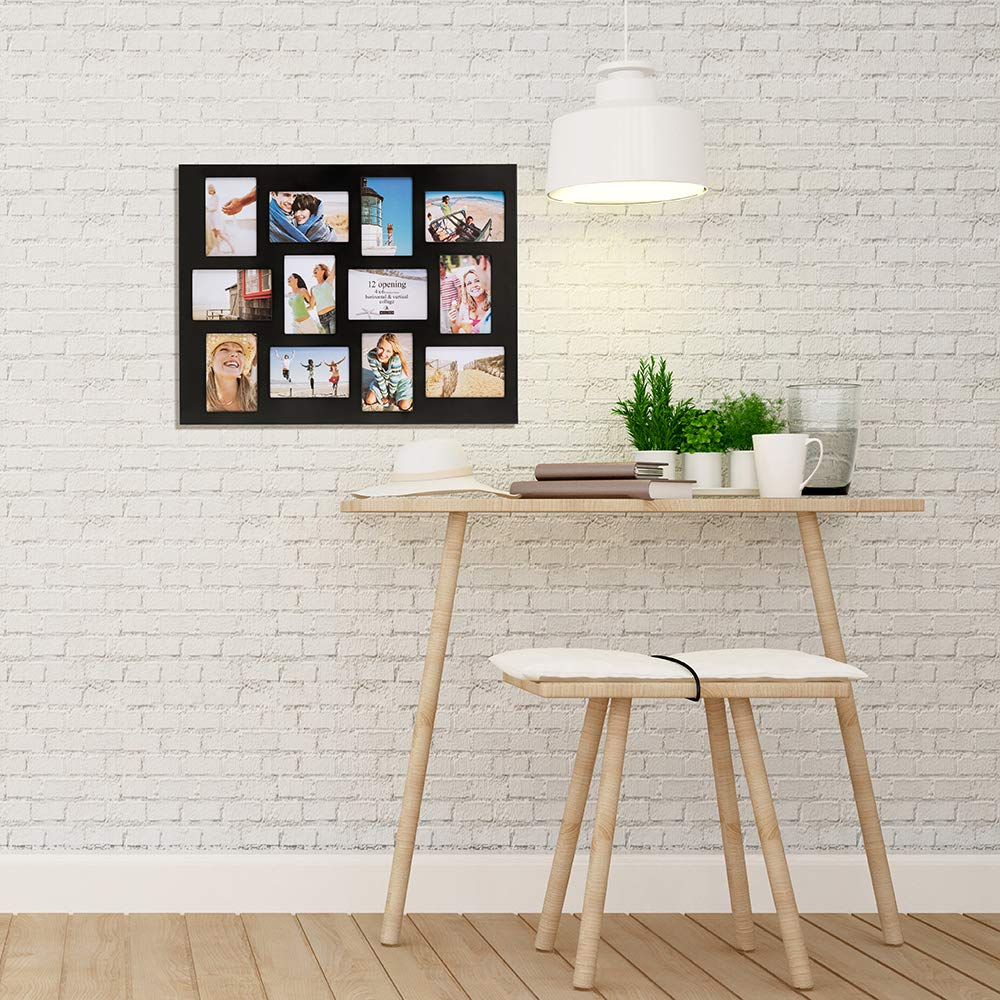 Malden 4x6 12-Opening Collage Picture Frame - Displays Twelve 4x6 Pictures - Black by Malden (Image #4)
