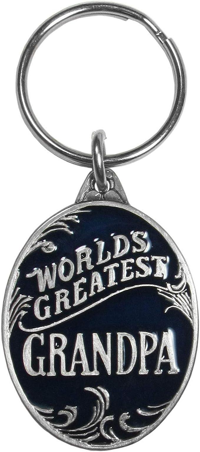Siskiyou Automotive Worlds Greatest Grandpa Antiqued Metal Key Chain KR197E