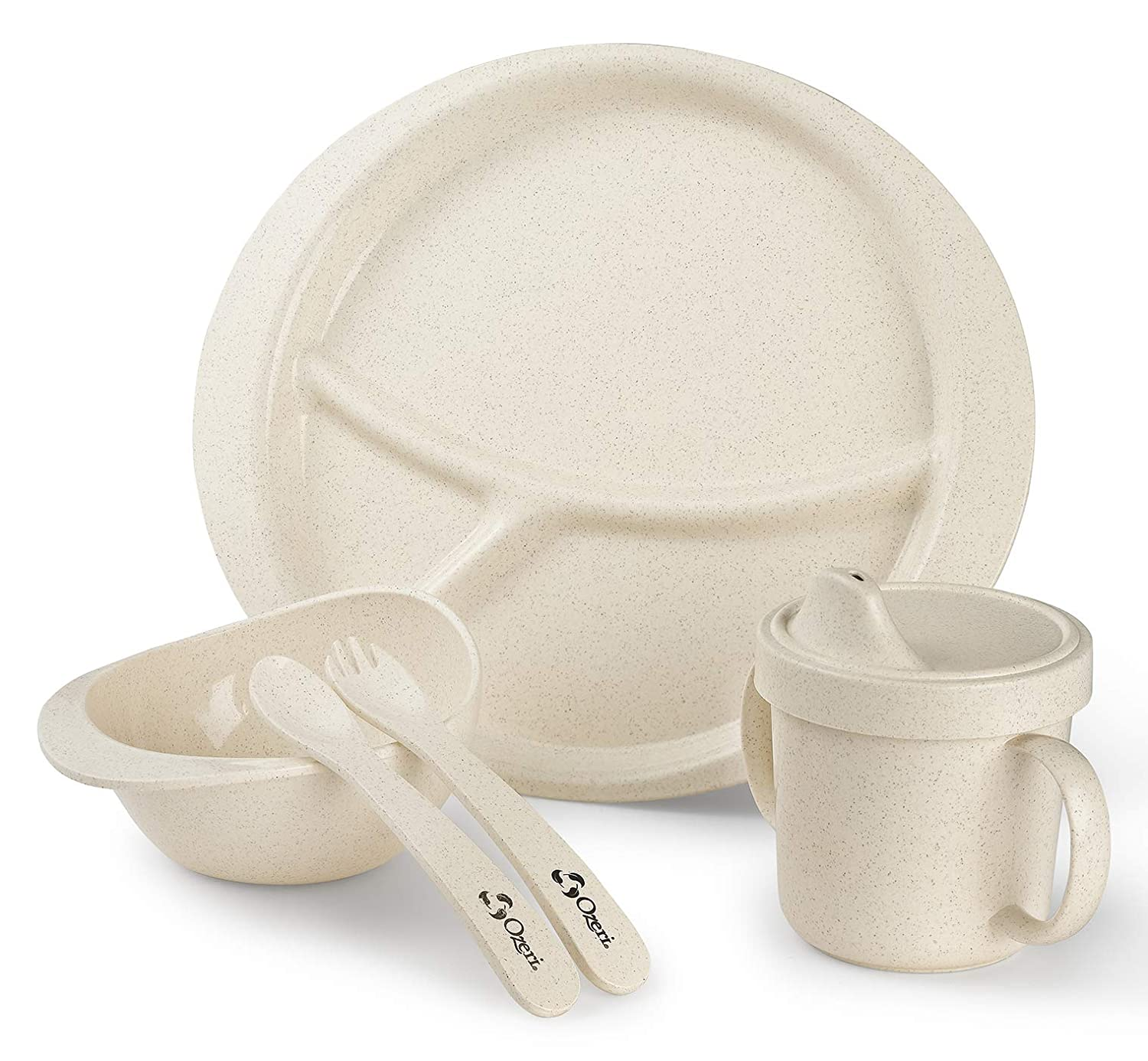 Ozeri DS1-G Earth Kids, 100% Made from a Plant Dish Set, One Size, Green