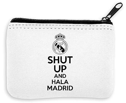 Shut Up and HALA Madrid Monedero de la Cremallera de la ...