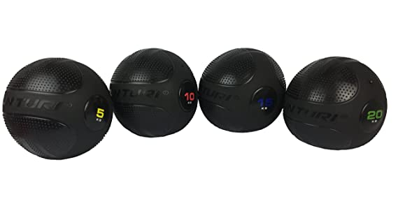 Tunturi Functional Fitness Balón Crossfit, Unisex Adulto, Black, 1 ...