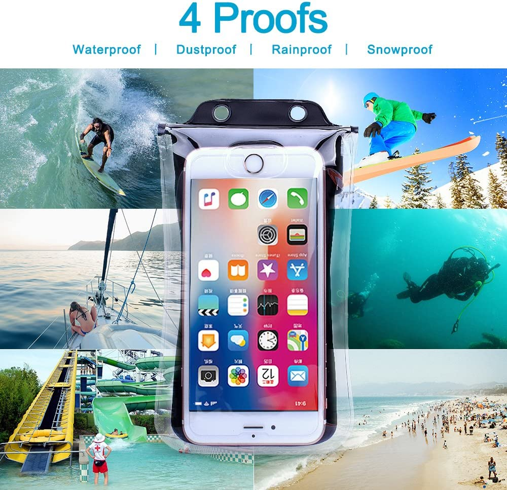 Samsung Galaxy S9//S9 Plus//S8//S8 Plus//Note 8 6 5 4 2019 Universal Floating Waterproof Phone Pouch Cellphone Dry Bag Pouch for iPhone X Google//HTC//LG//Sony//Moto ORANGE 8//7//7 Plus//6S//6//6S Plus