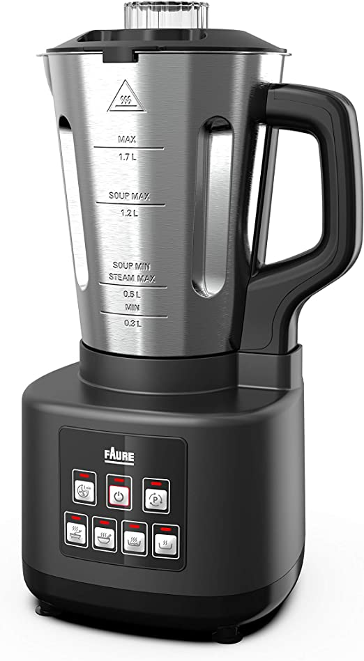 Faure FBM-9011 - Robot batidora con calor para sosmaker, color negro: Amazon.es: Hogar