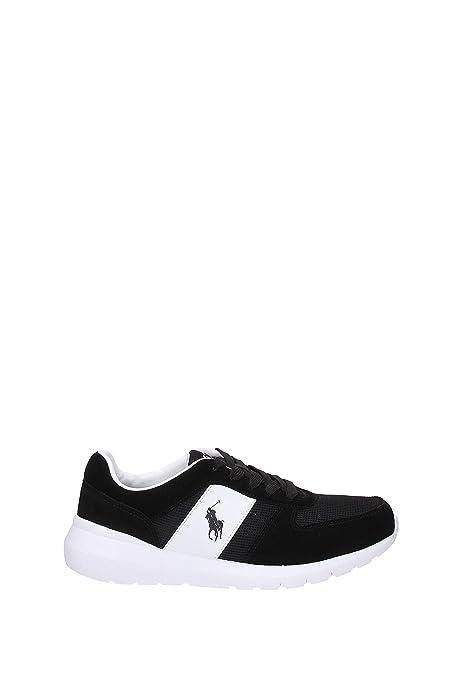 Ralph Lauren Zapatos Zapatillas de Deporte Hombres EN Piel Negro: Amazon.es: Zapatos y complementos