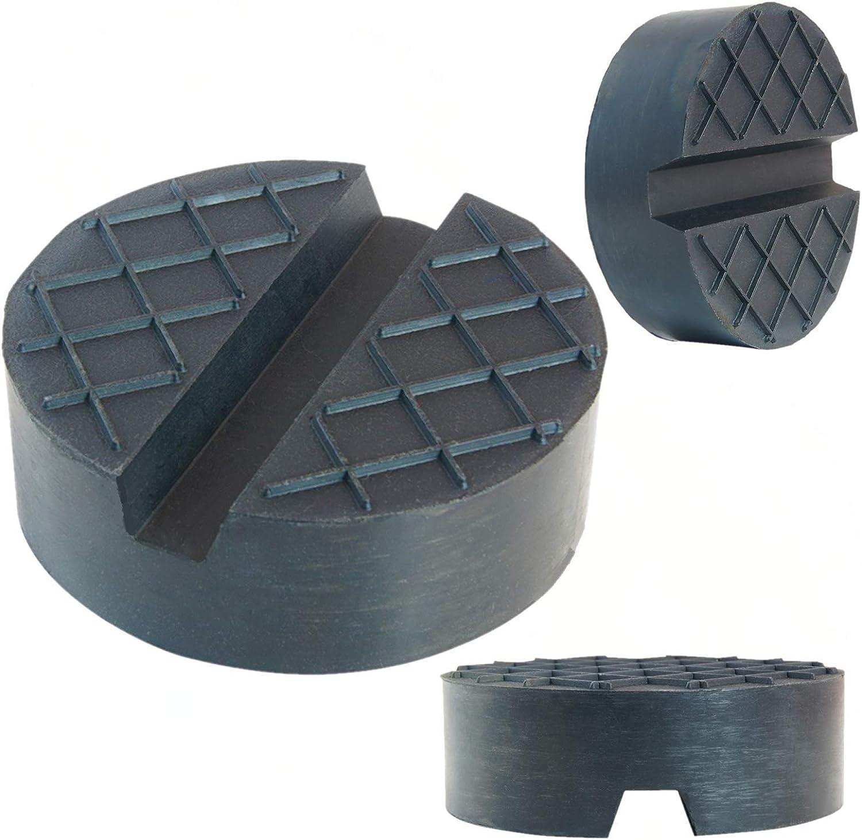 SUV Bloc de roue universel en caoutchouc pour le changement des pneus Protection de la voiture Coussin en caoutchouc de la taille /Ø75x25mm pour cric de voiture