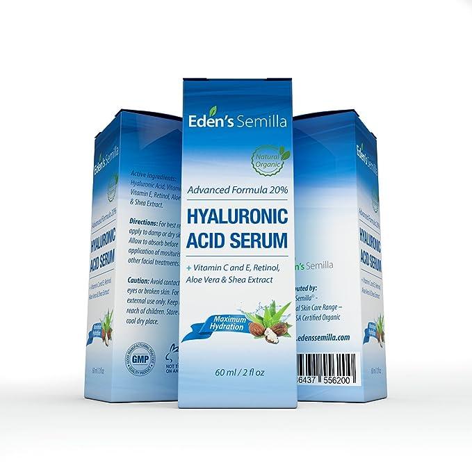 Acido Hialuránico Serum 60ml - Es el mejor anti-edad hidradante para el cutis. Ayuda a reducir las arrugas faciales. Contiene Vitamina C, Retinol, ...