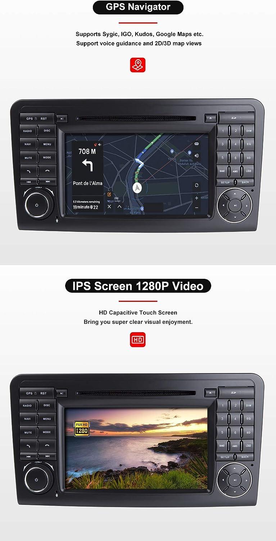 F/ür Mercedes Benz GL ML KLASSE W164 X164 ML350 ML450 ML500 GL320 GL450 Android 10.0 Octa Core 4 GB RAM 64 GB ROM 7Autoradio Stereo GPS System Auto Multimedia Player