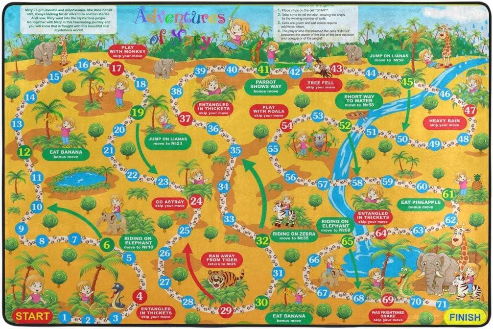 DXG1 Juego de Mesa 2 x 3 ft Area Rugs Colorful Grande Mat para salón Dormitorio Sala de Juegos Decorativo Antideslizante Home Hotel, Color-1, 4 x 6 ft/122 x 182 cm: Amazon.es: Hogar