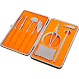 Seafood Tools, Yamix 8Pcs Lobster Crab Cracker and Forks Tool Set Seafood Tool Kit with Golden Leather Case